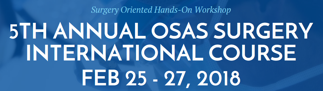 5th Annual OSAS Surgery International Course Banner